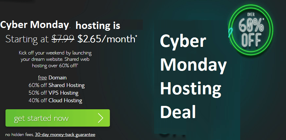 Bluehost cyber Monday hosting deal at cheap price
